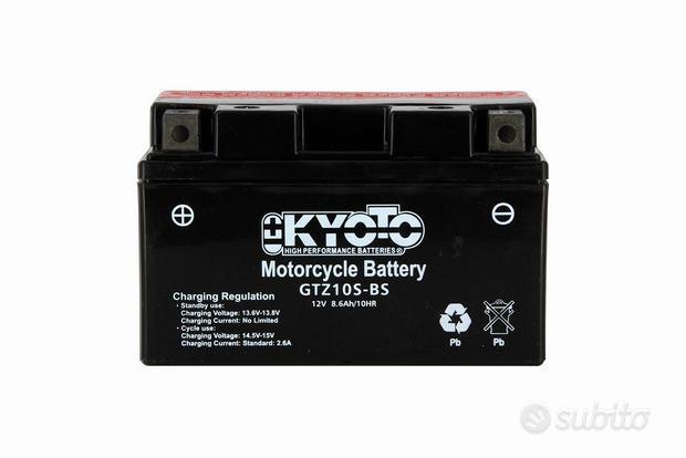 Batteria kyoto gtz10s-bs 12v 8.6ah agm per yamaha