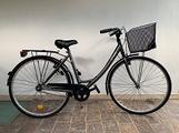 Bicicletta nera elops city bike b-Twin