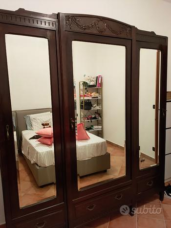 Camera da letto legno e marmo