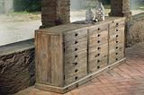 Credenza 6 cassetti 2 ante legno vecchio cod 12006