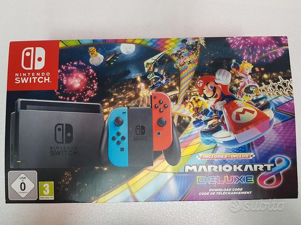 Console nintendo switch grey joycon blue red - blu