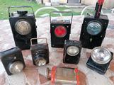 Lampade vintage di segnalazione F. S