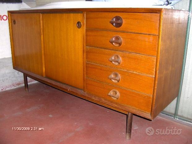 Credenza tavolo svedesi teak anni 50