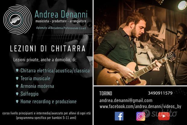 LEZIONI DI CHITARRA a Torino, anche a domicilio