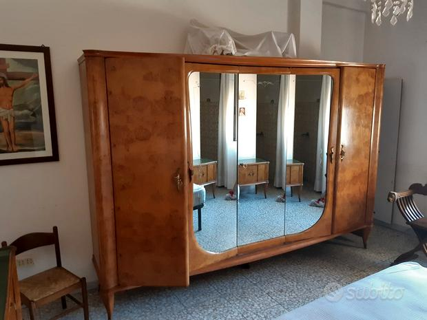 Mobili antichi comò con specchiera+armadio