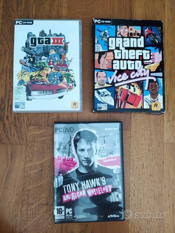Giochi PC: Tony hawk's; GTA III; GTA vice city