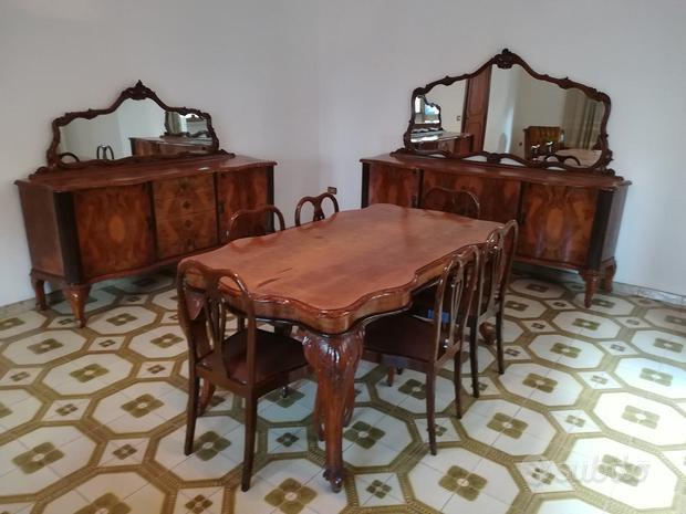 Sala da pranzo completa, anni 50 Chippendale