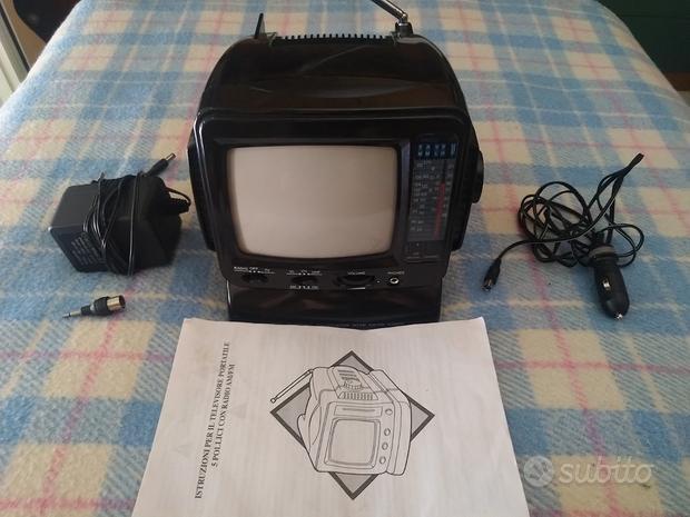 Mini Televisore portatile e Radio AM/FM - Anni 90