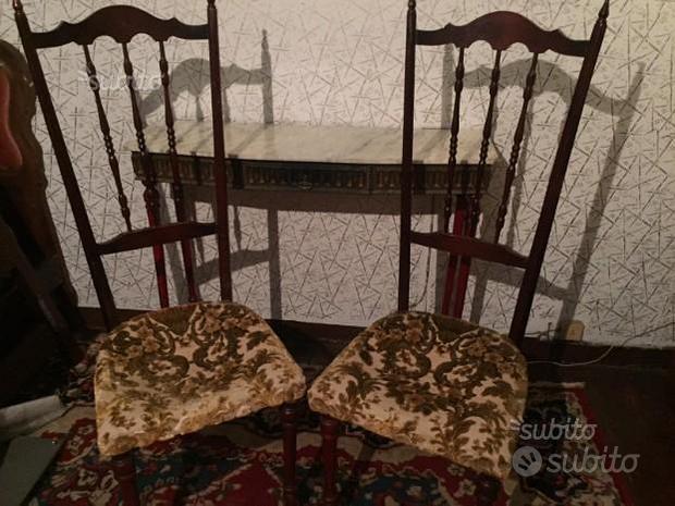 Consolle e sedie anni '60