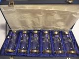 Set bicchieri cristallo e argento