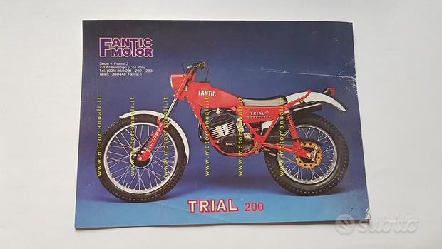 Fantic Motor Trial 200 1979 depliant originale