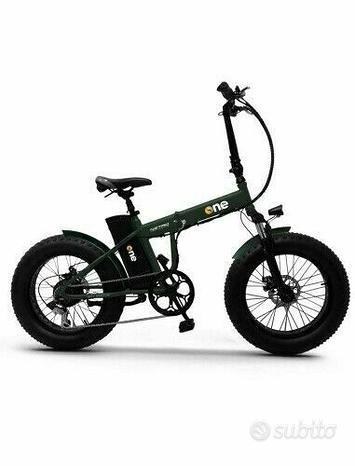 Bici elettrica the one nitro green forest
