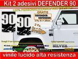 Adesivi DEFENDER 90 o 110, land rover defender
