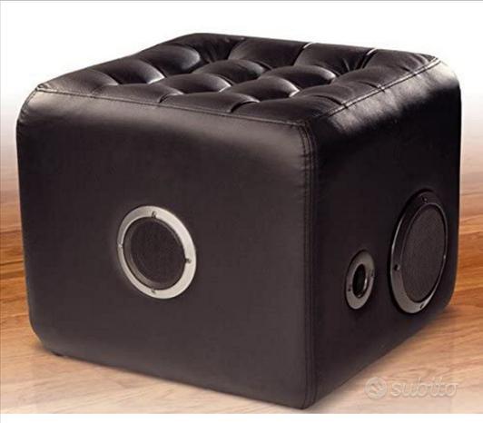 2 Sound cube Bluetooth pouf con altoparlanti