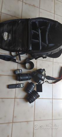 Canon 70d + obiettivi + borsa tamrac