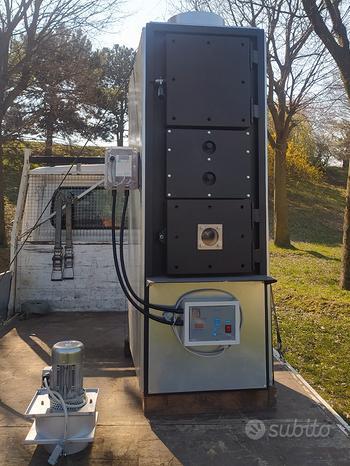 Generatore di aria calda a legna a fiamma rovescia