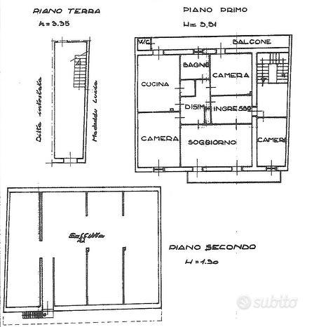 Ampio appartamento più sottotetto e giardino