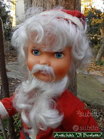 Babbo Natale bambola pupazzo vintage anni '70
