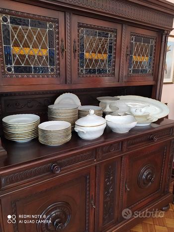 Servizio di piatti Richard-Ginori bordato in oro