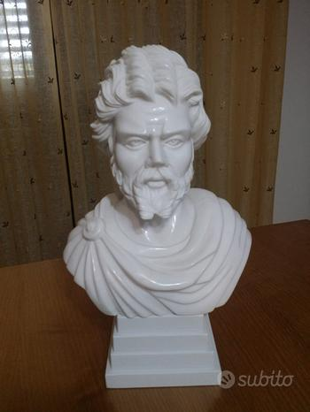 Busto romano imperatore in marmo di carrara