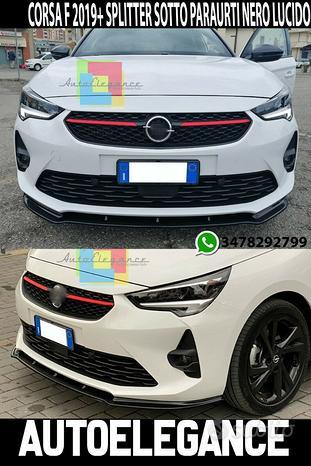 Opel corsa f spoiler sotto paraurti anteriore lama