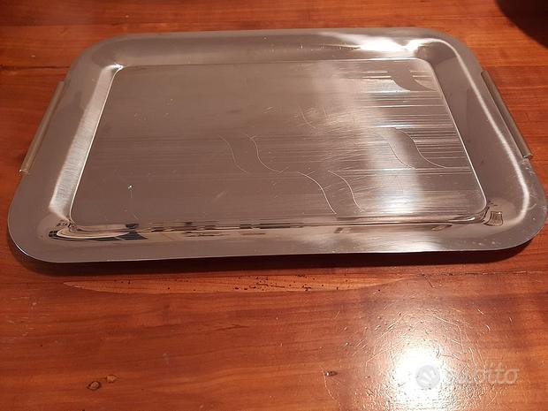 Elegante grande vassoio in acciaio inox 100% 50x34