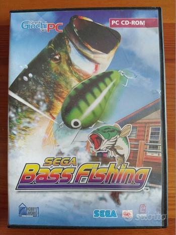 Sega bass fishing gioco pc cd-rom italiano