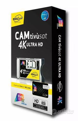 TIVUSAT Smart Cam 4K ULTRA HD con scheda Digiquest