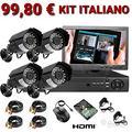Kit videosorveglianza full hd 1080p, sicurezza