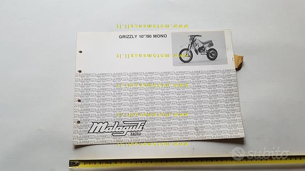 "Malaguti 50 Grizzly 10"" Mono 1990 catalogo ricambi"