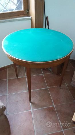 Tavolo da poker originale in rovere epoca tavolino