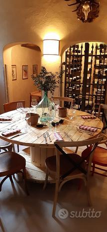 Tavolo sgabelli con Bobine legno pallet pancale
