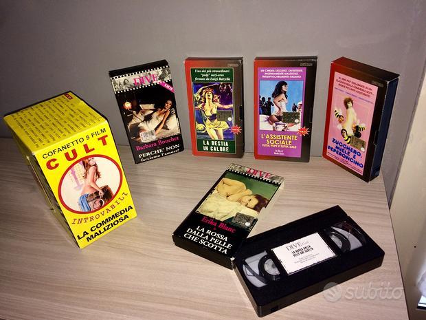 Cofanetto 5 film VHS CULT La commedia maliziosa