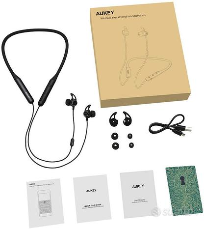 AUKEY Cuffie Bluetooth 5 Senza Fili con aptX HD, 1