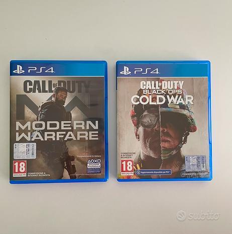 Cod Modern Warfare e Cod Cold War (ps4)