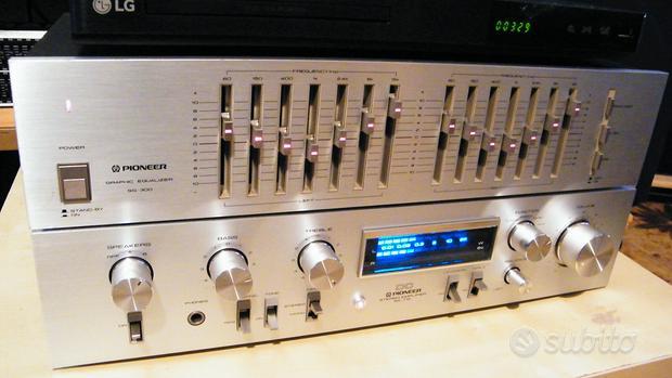Pioneer amplificatore e equalizzatore