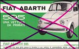 Depliant brochure della vettura Abarth Fiat 595