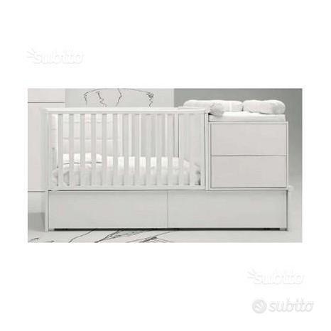Culla/fasciatoio trasformabile letto con cassetti