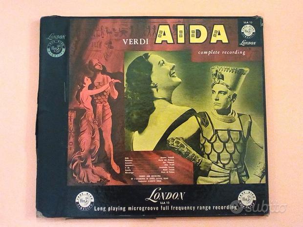 AIDA Giuseppe Verdi -box 3 LP- anni 50
