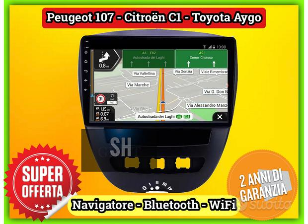 Radio navigatore Citroen C1 - Toyota Aygo - 107