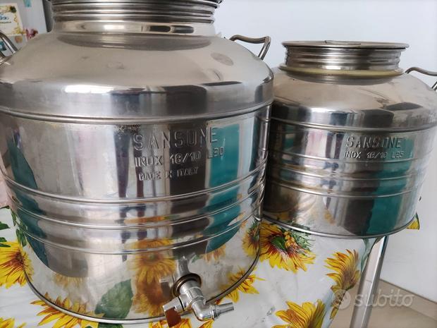 Contenitori olio in acciaio da 30 e 25 litri