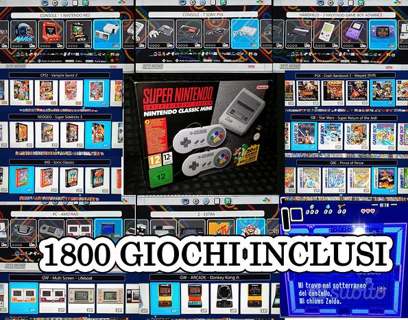 Console originale nintendo snes mini classic 1800
