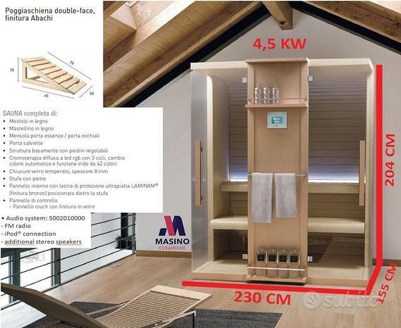 Sauna finlandese cuna 230x155 hafro geromin- promo
