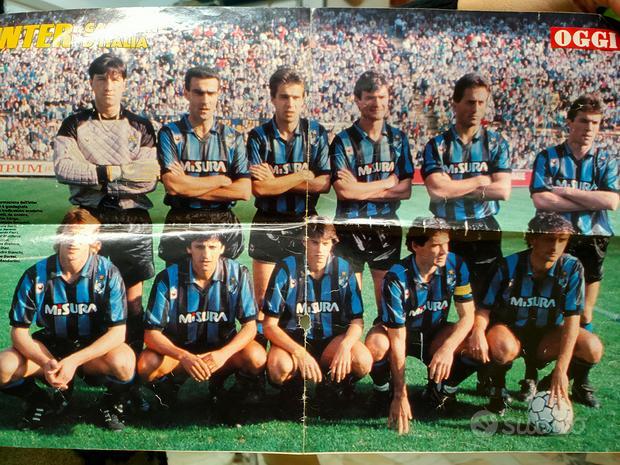 Poster anni 80 Inter e Walter Zenga