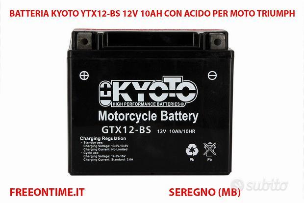 Batteria kyoto ytx12-bs 12v 10ah per moto triumph