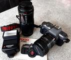 Fotocamera Reflex Pentax P30T e accessori