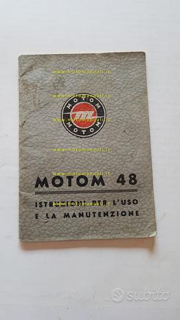 Motom 48 1953 manuale uso manutenzione originale