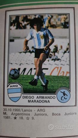 Maradona . sport superstar euro football 82 figuri