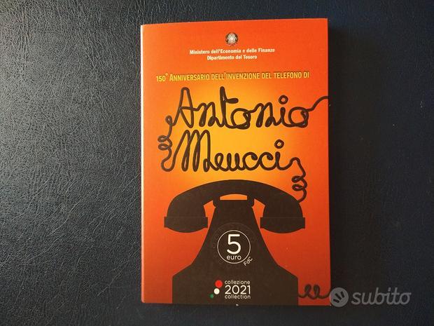 IPZS 5 euro 2021 Antonio Meucci in coincard