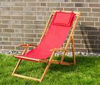 Sedia a sdraio in legno pieghevole (NUOVA)